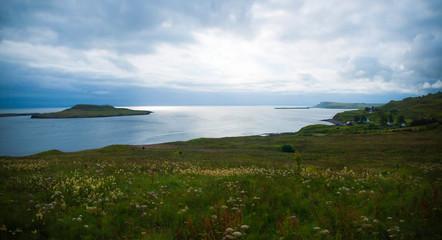 Scottish coast with cliffs