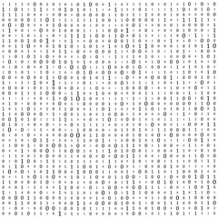 Abstract Matrix Background. Binary Computer Code. Coding. Hacker concept. Vector Background Illustration.