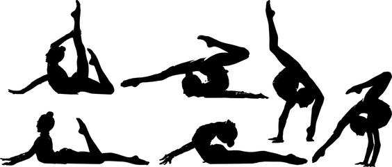 新体操のシルエット
