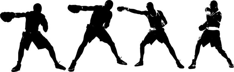 ボクサーのシルエット