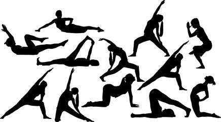 フィットネス・体操のシルエット