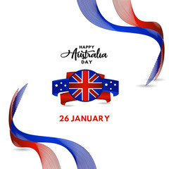 Happy Australia Day Vector Template Design Illustration