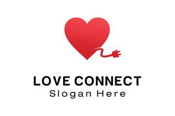LOVE CONNECT LOGO DESIGN