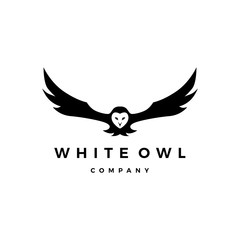 white owl logo vector icon illustration