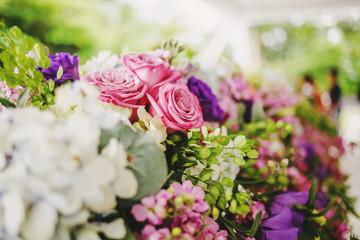 Bouquet of roses color, bridal wedding bouquet