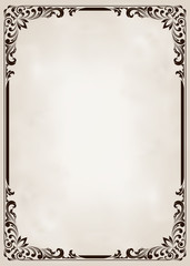 decorative frame in vintage style