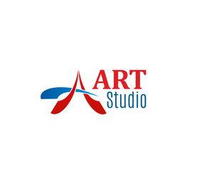 Vector sign of art studio