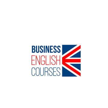 Vector sign for business English courses