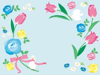 春の花 背景イラスト