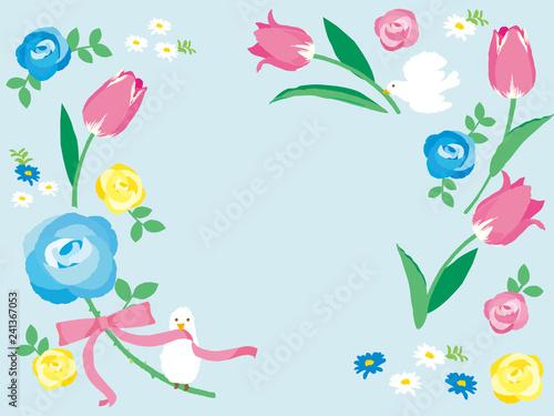 春の花 背景イラストfotoliacom の ストック画像とロイヤリティフリー