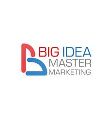 Big idea vector marketing company icon template