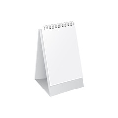 Mockup on desk calendar vector illustration