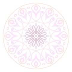 Flower coloring Mandala. decorative elements. Oriental pattern, vector illustration. Indian, moroccan, mystic, ottoman motifs.