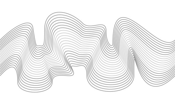 Vector Illustration of the seamless pattern of gray lines on white background. EPS10.