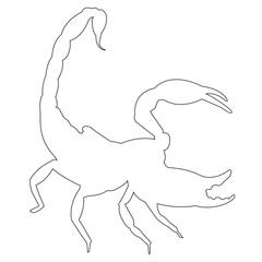 Scorpio outline vector icon eps