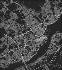 Map of the city of Quebec, Canada
