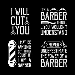 Barber Shop Quote and Saying, good for print