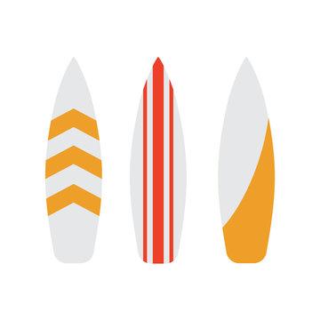 Surfboard icons set. Surfboard surf vector illustration