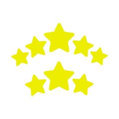 Ranking stars vector. Game stars ui elements