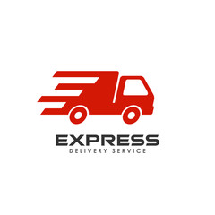 express delivery services logo design. courier logo design template
