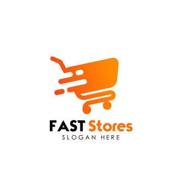 fast shop logo design template. fast sale icon design