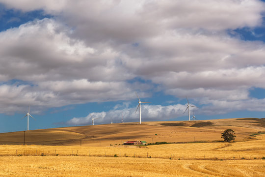 Windmills in the countryside of South Africa