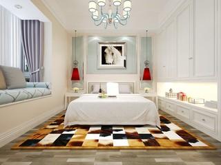 3d render white hotel room