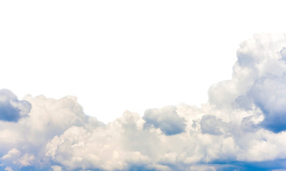 clouds in the sky isolated on white background Wall mural