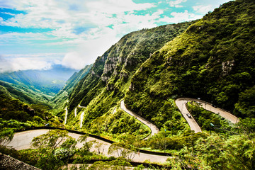 mountain road in the mountains