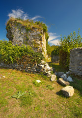 Ruins of the former castel of Montousse, France