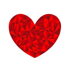 cuore geometrico grafico bello moderno San Valentino
