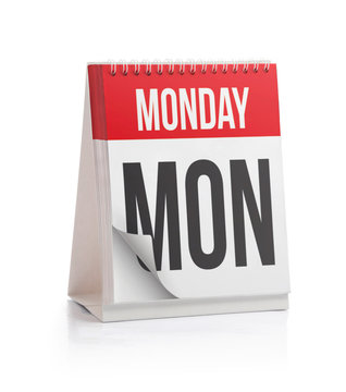 Week Calendar, Monday Page