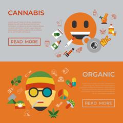 Digital vector cannabis healthy medicine
