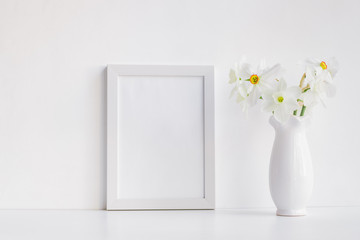 Mockup with a white frame