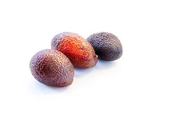 Avocado isolated on white background. Ripe raw avocados. Vitamins