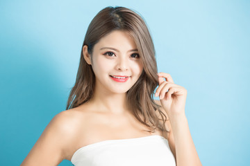 Beauty young skin care woman