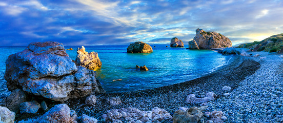 Deurstickers Cyprus Best beaches of Cyprus - Petra tou Romiou, famous as a birthplace of Aphrodite