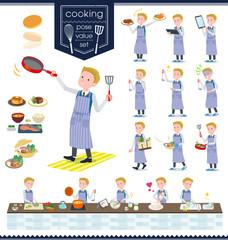 flat type school boy White_cooking