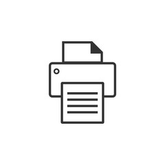 Printer graphic icon design template illustration
