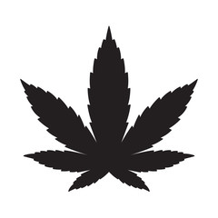 Marijuana vector cannabis leaf weed logo icon graphic illustration