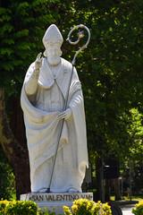 Valentine's day. Statue of Saint Valentine