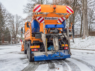 Winter service vehicle in Germany