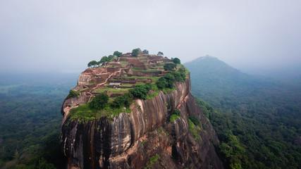 Sigiriya - an ancient stone fortress and a palace built on a granite rock Wall mural