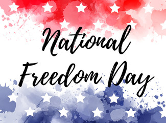 USA National Freedom Day background