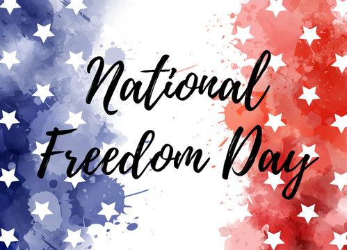 USA National Freedom Day background