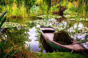 Monet's Gardens and lake with water lilies at Giverny, Normandy, France