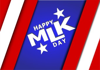 Martin Luther King Day illustration background