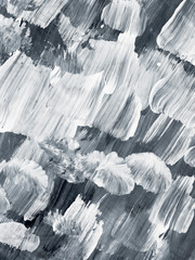 Black and white creative abstract hand painted background, brush texture.