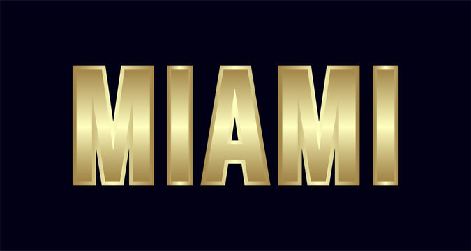 Miami City Typography vector design. Greetings for T-shirt, poster, and more
