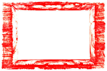 red frame of Passepartout on white background